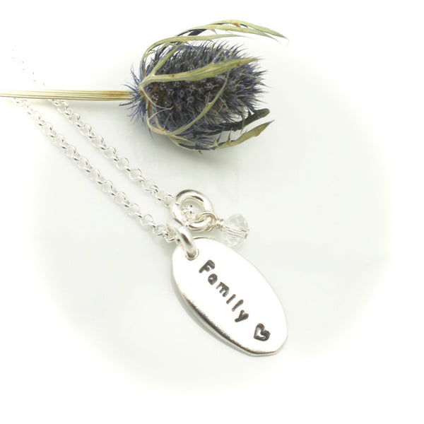 One Oval Charm Personalized Necklace