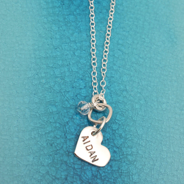 Single Heart Name Pendant Necklace
