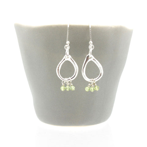Inner Spirit: Peridot Teardrop Earrings