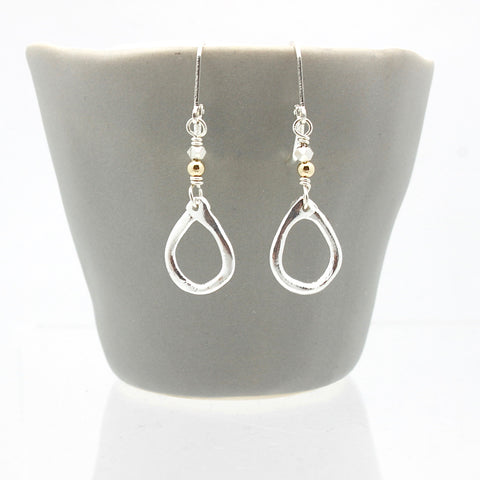 Inner Spirit: Fine Silver Teardrop Earrings