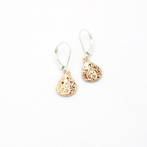 Inner Spirit:  Bronze Lotus Earrings