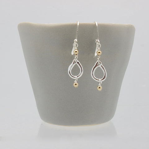 Inner Spirit:  Petite Fine silver Teardrop Earrings