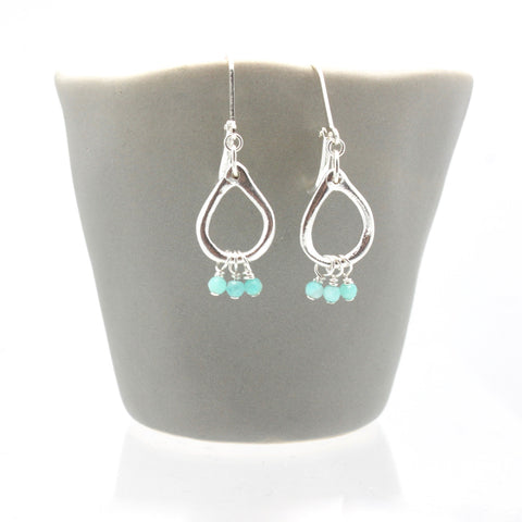Inner Spirit: Amazonite Teardrop Earrings