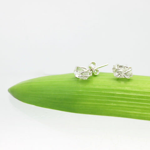 Inner Spirit:  Herkimer Diamond Stud Earrings