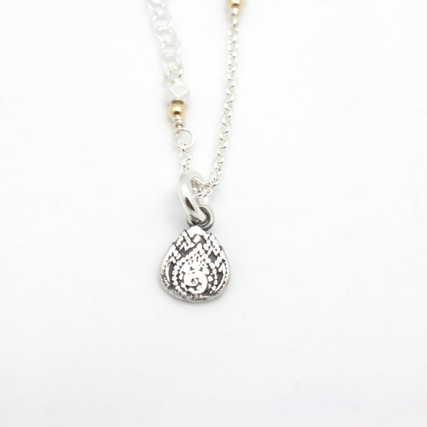 INNER SPIRIT:  Silver Lotus Necklace