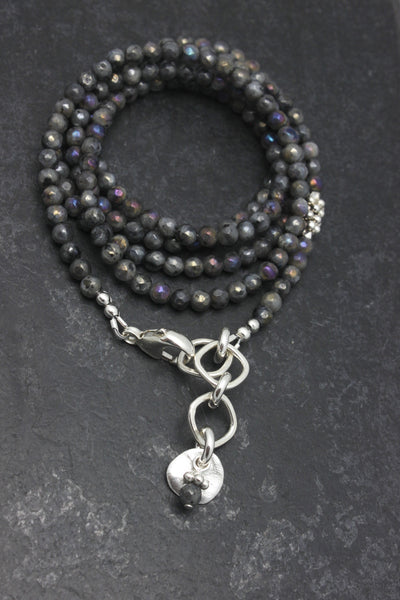 Molten Collection:  Labradorite Necklace & Wrap Bracelet