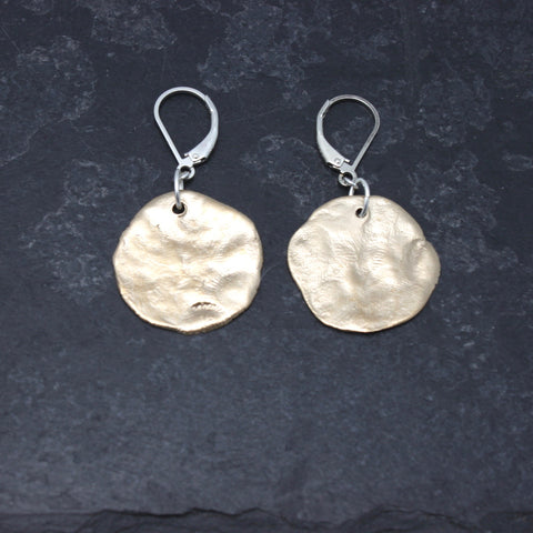 Molten Collection:  Bronze Molten Earrings