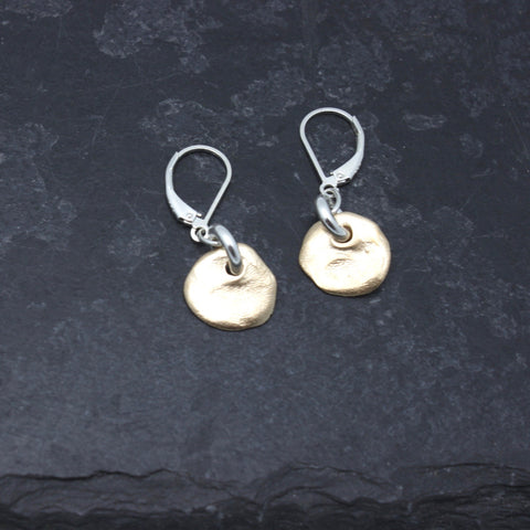 Molten Collection:  Petite Bronze Molten Earrings