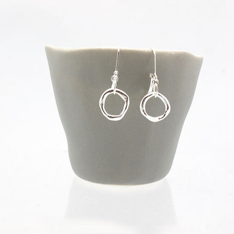 Chunky Silver Link Earrings