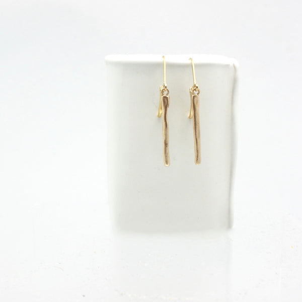 Arctic Blossoms:  Icicle Bronze Earrings