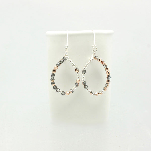 Ombre Rose Gold Teardrop Earrings