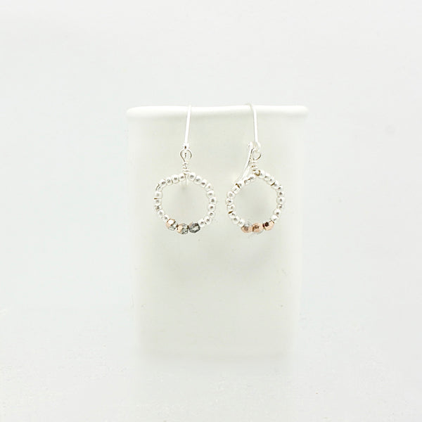 Ombre Rose Gold Petite Hoop Earrings