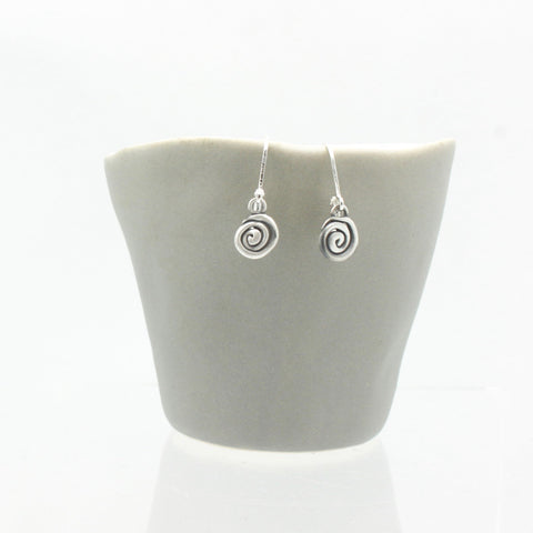 Athena Silver Labyrinth Earrings