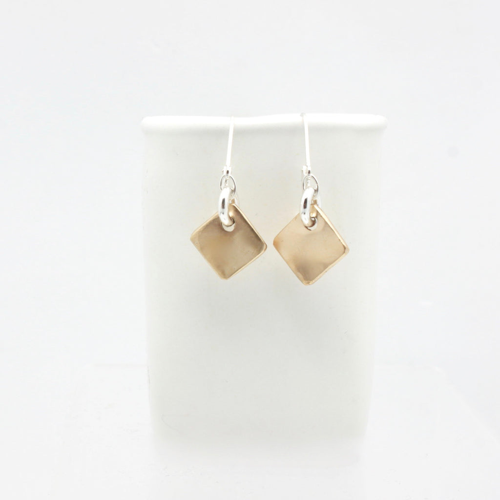 Contour Collection: Bronze Diamond Pendant Earrings