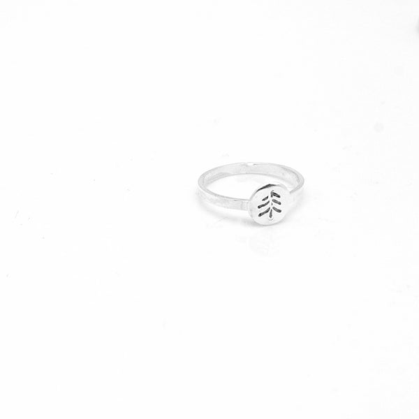 Sterling Silver Ring with Fine Silver Charm