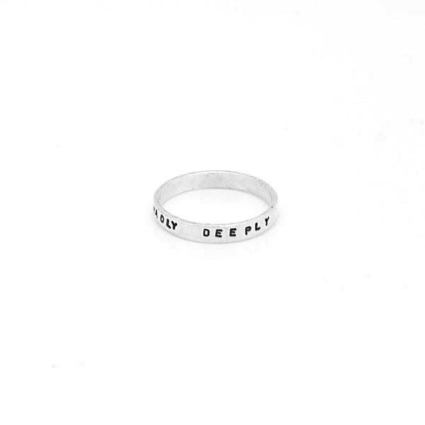 Sterling Silver 3mm Personalized Ring