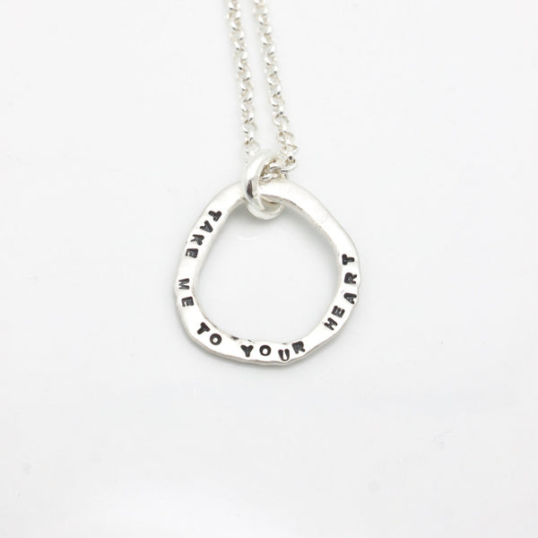 Freeform Fine Silver Open Link Personalized Necklace