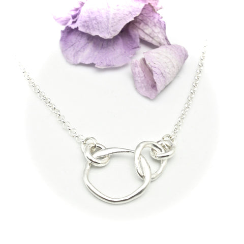 Mother Daughter Necklace - Bold Silver Link