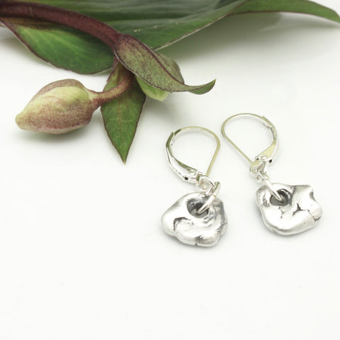 Lava Form Collection:  Silver Pali Earrings