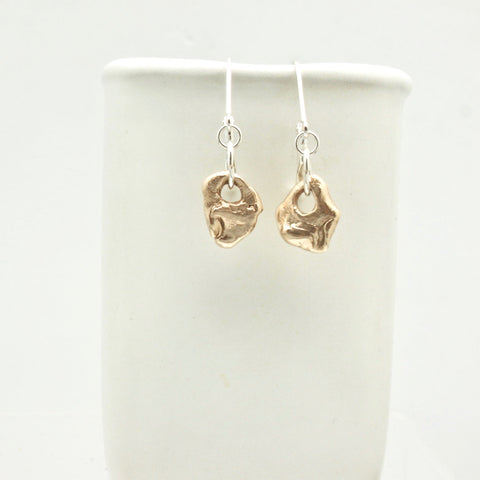 Lava Form Collection:  Bronze Pali Earrings