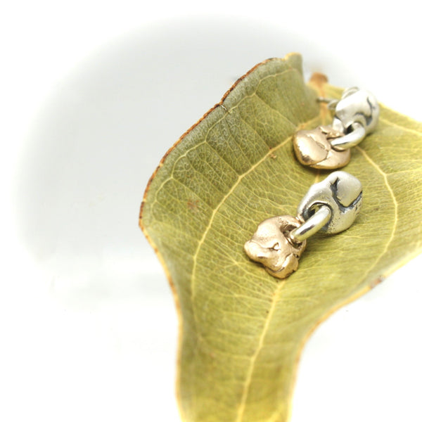 Lava Form Collection: Pali Mixed Metal Stud Earrings