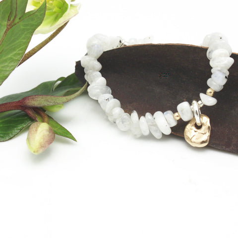 Lava Form Collection:  Kuali Moonstone Stretch Bracelet