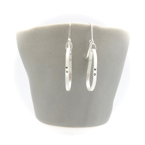 Silver XO Hoop Earrings