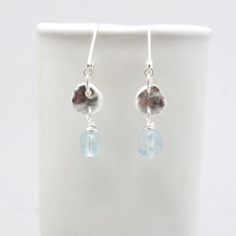 Lava Form Collection:  Wai Aquamarine Earrings