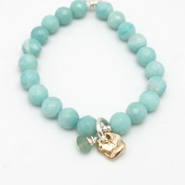 Lava Form Collection: Kai Amazonite Stretch Bracelet