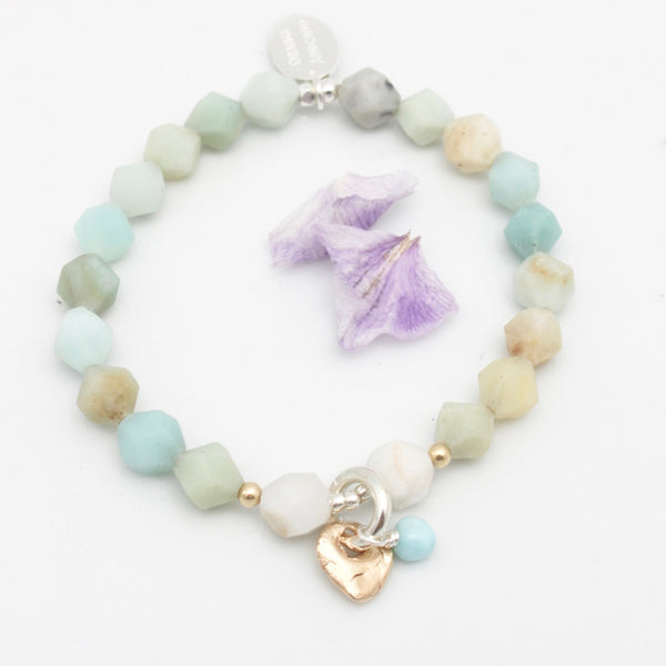 Lava Form Collection:  Amazonite Mako Stretch Bracelet