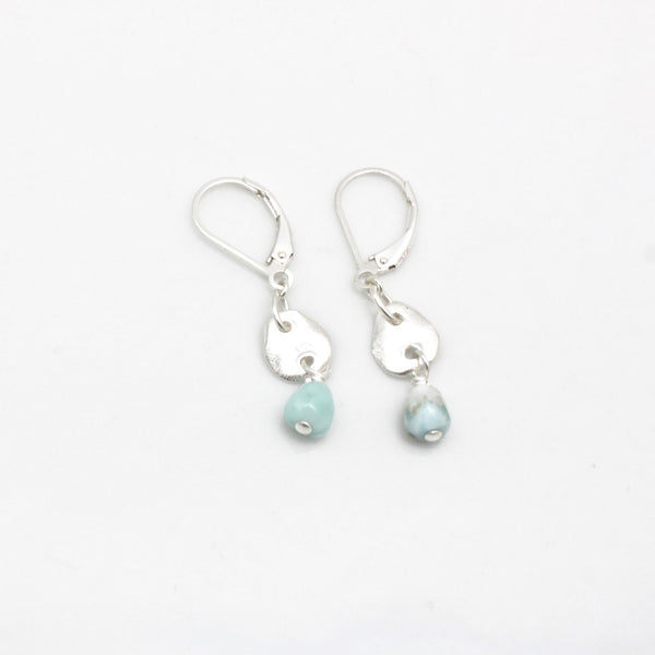 Lava Form Collection: ULI Larimar Earrings