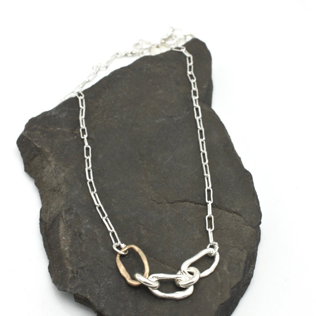 Curve Collection:  3 Curve SHORT Necklace