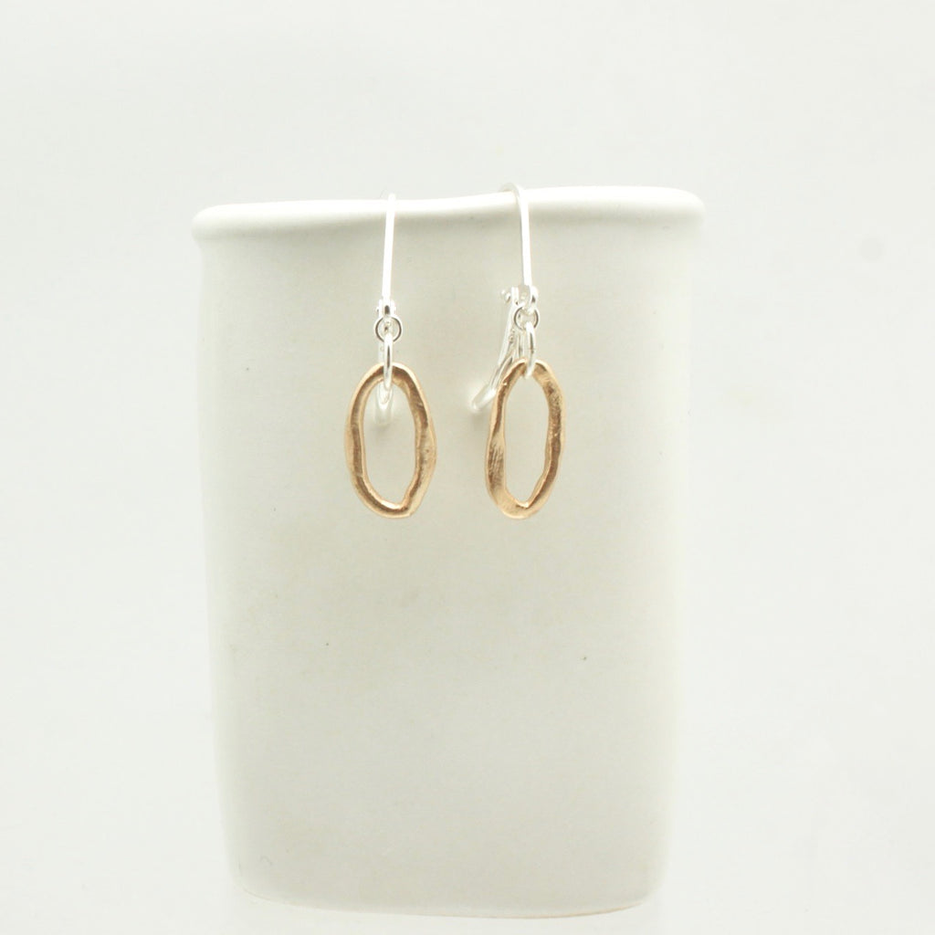 Curve Collection:  Bronze Curve Earrings