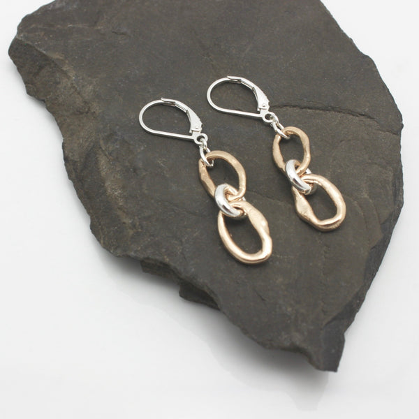 Curve Collection: Bronze Stack Curve Earrings