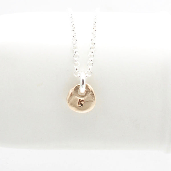 Bronze Initial Necklace