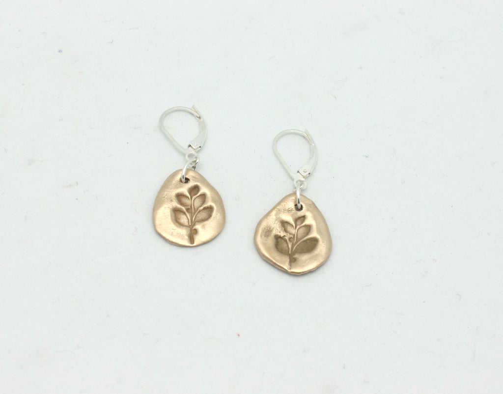 Bronze Olive Branch Earrings