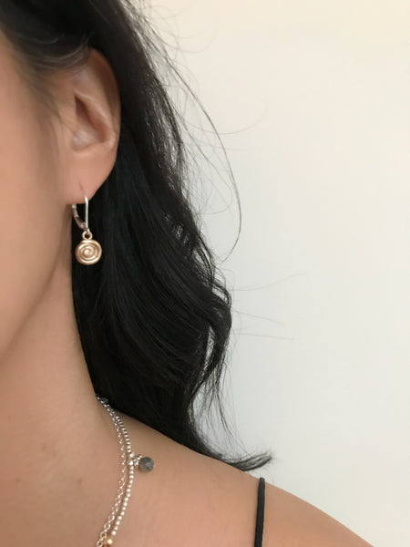 Athena Bronze Labyrinth Earrings