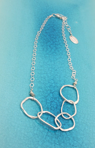 Fine Silver Multi-Link Necklace