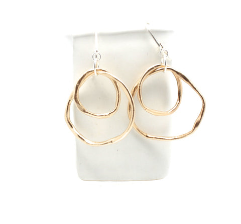 LINKS Collection - Large Layered Bronze Entwined Link Earrings