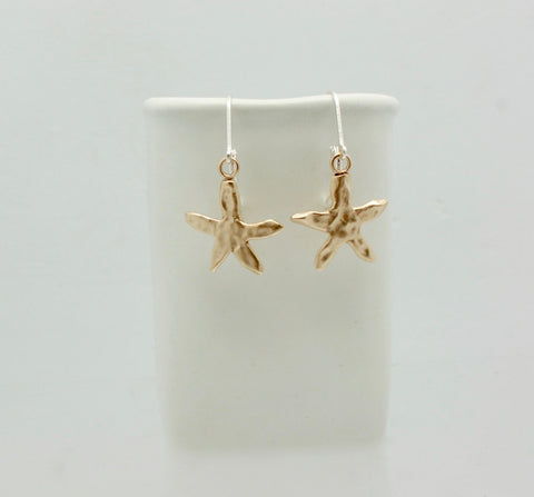 Starfish Bronze Earrings