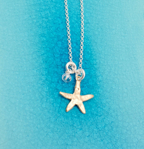 Starfish Bronze Pendant Necklace