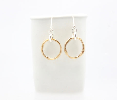 Arctic Blossoms: Bronze Link & Silver link Earrings
