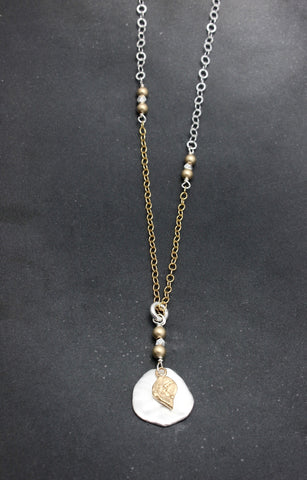 Arctic Blossoms:  Silver Aura Necklace - Long Version