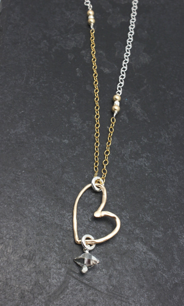 Choose Love Bronze Heart Necklace