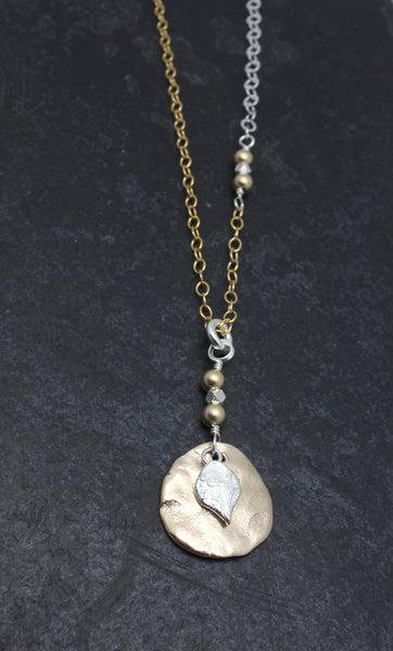 Arctic Blossoms:  Bronze Aura Necklace