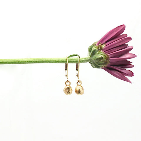 Arctic Blossoms: Petite Bronze Bud Earrings
