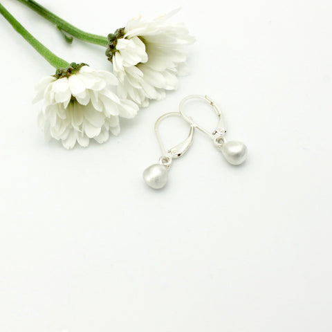 Arctic Blossoms: Petite Fine silver Bud Earrings