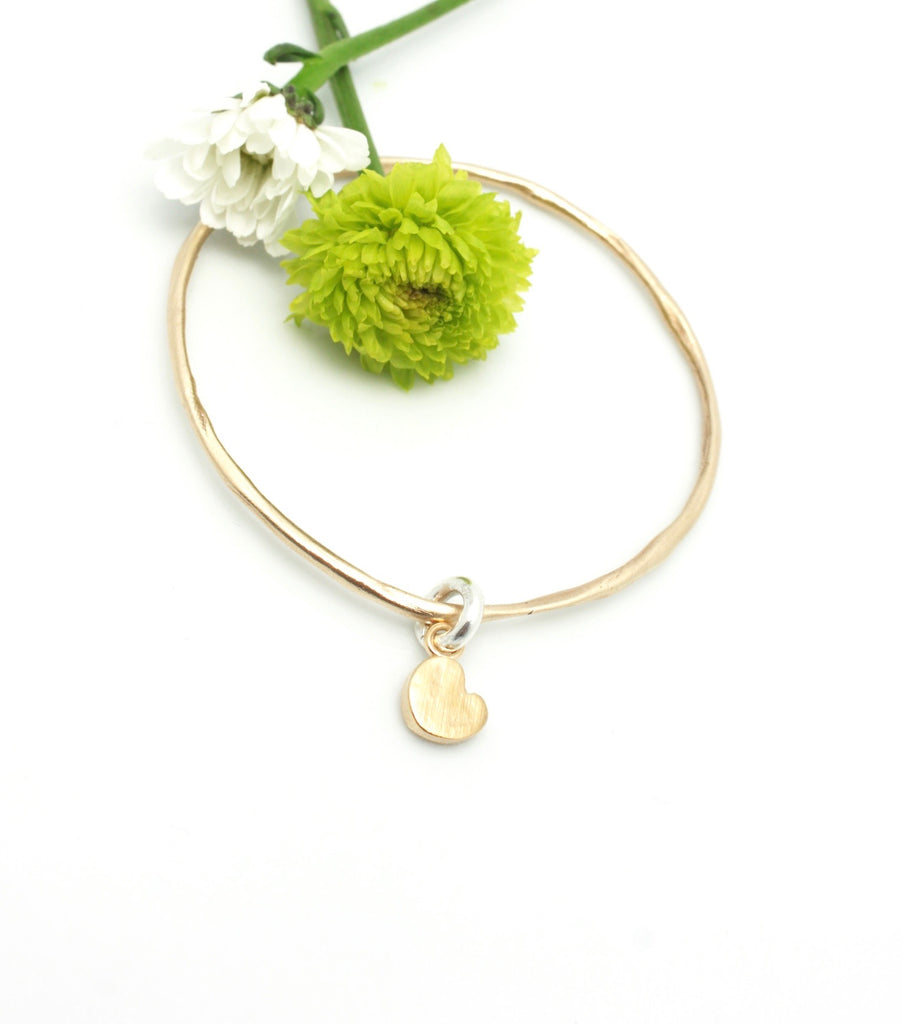 Bronze Bangle & Bronze Petite Heart