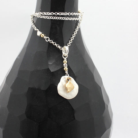Arctic Blossoms: Silver Aura Necklace - Short Version