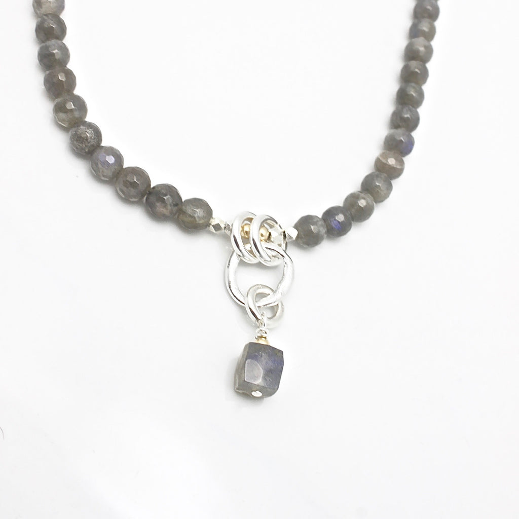 Molten Collection:  Labradorite Short Beaded Necklace